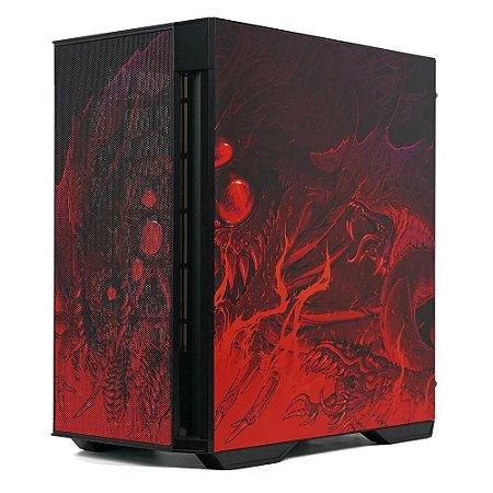 Gabinete Gamer Redragon Strafe Infernal Dragon, Sem Fonte, Sem Fan, Lateral Vidro Temperado, Preto