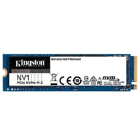 Ssd Nvme 500 Gb Kingston Nv1 Snvs/500G, Lê: 2.100 Mb/S, Grava: 1.700 Mb/S