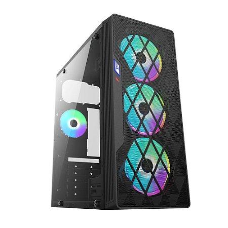Pc Gamer Intel I3-10100F, Gigabyte H410M H, Ssd 240G Kingston, Mem 8G Hyperx, Bluecase Bg037, Fonte 550 Gigabyte, Gt1030