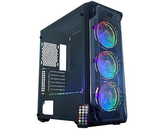 Pc Gamer Intel I7-9700F, Gigabyte Z390M, Ssd M2 250Gb Wd, Mem 8Gb Hyperx, Kmex 05B1, Fonte 650 Gamemax, Gtx1650