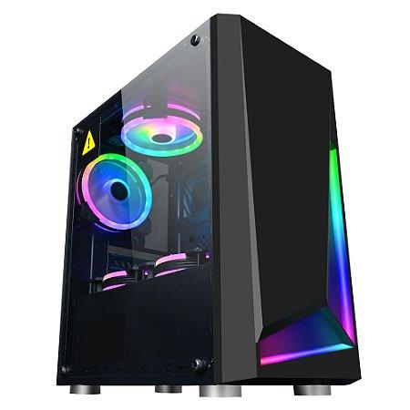 Pc Gamer Amd Ryzen 5600G, Gigabyte A520M, Ssd 240Gb Kingston, Mem 8Gb Hyperx, Bluecase Bg039, Fonte 500 Bluecase