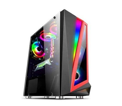 Pc Gamer Amd Ryzen 5600G, Asrock B450M, Ssd Nvme 500Gb Kingston, Mem 16Gb Hyperx, Bluecase Bg040, Fonte 550 Corsair