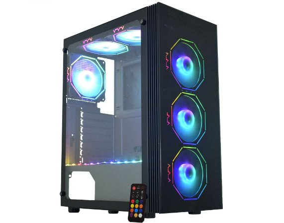 Pc Gamer Amd Ryzen 5600G, Asrock B450M, Ssd 480Gb Kingston, Mem 32Gb Hyperx, Kmex 02Z5, Fonte 550 Corsair