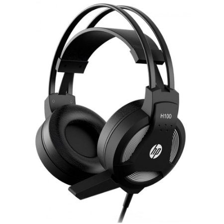 Headset Gamer Hp H100, P2, Preto, 7Qv34Aa#Abm