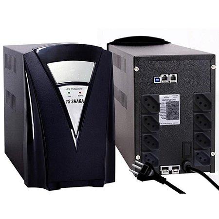 NOBREAK 1800 VA TSSHARA UPS PROFESSIONAL 2BS/2BA UNIVERSAL BIVOLT AUTO 8T SAIDA 115V E 220V USB INTELIG. 1 EXP. 7A/45A