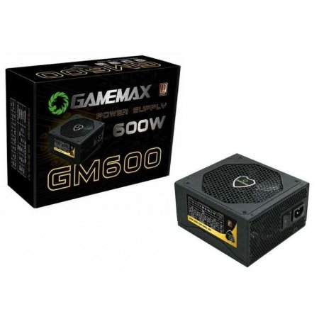 FONTE ATX 600 W GAMEMAX GM600 BOX 80 PLUS BRONZE C/PFC GARANTIA: 6 MESES