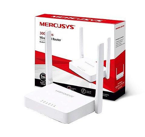 ROTEADOR MERCUSYS MW305R WIRELESS 300MBPS 4 PORTAS 10/100MBPS 2 ANTENAS 5DBI