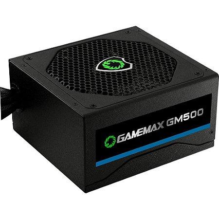 Fonte Atx 500 W Gamemax Gm500 Box 80 Plus Bronze C/Pfc S/Cabo Preto/Branco