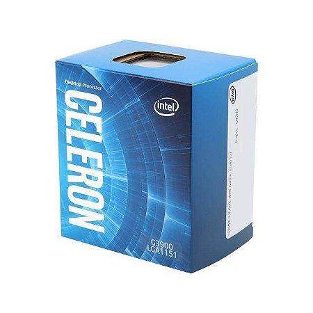 Processador 1151 Intel 6ª Geração Celeron G3900 2,80 Ghz 2Mb Cache Skylake