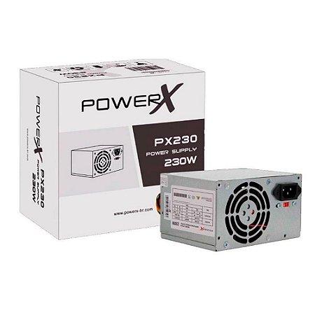 Fonte Atx 230 W Powerx Px230 Box Sem Pfc Com Cabo De Forca