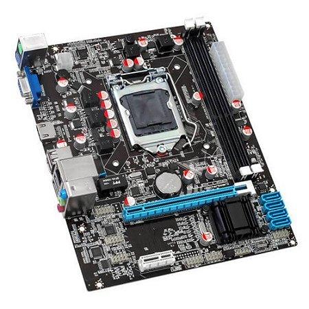 PLACA MAE 1155 BLUECASE BMBH61-M BULK DDR3 16GB / VGA / HDMI GARANTIA: 90 DIAS