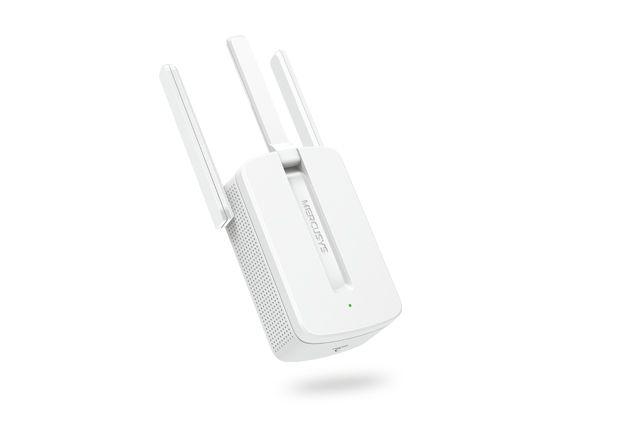 Repetidor De Sinal Mercusys Mw300Re, Wireless, Single Band 2.4 Ghz, 300 Mb/S, 3 Antenas, Botão Wps