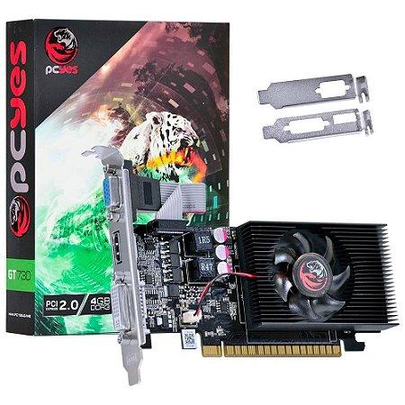 PLACA DE VIDEO DDR3 4GB/128 BITS NVIDIA PCYES GEFORCE GT730 PCI-E 2.0 OPEN GL4.4 HDMI/VGA/DVI GARANTIA: 6 MESES TIBURON