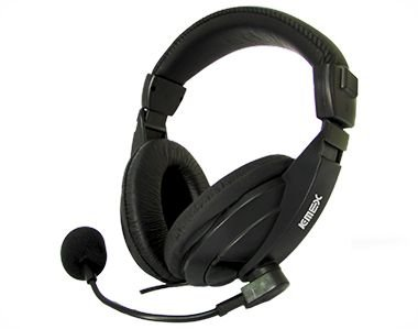 FONE DE OUVIDO PRETO KMEX AR-S7500 C/ MICROFONE/HEADSET GARANTIA: 30 DIAS