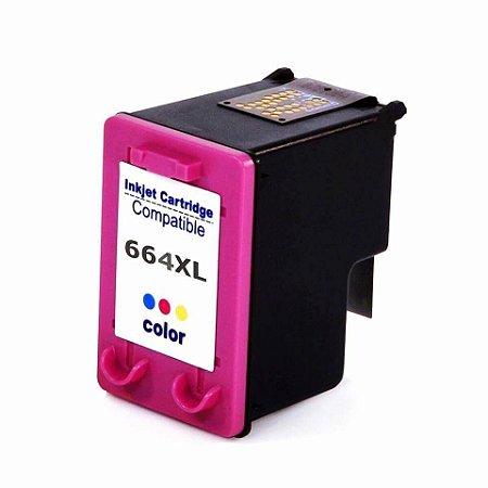 CARTUCHO DE TINTA COMPATIVEL HP 664XL COLORIDO 18ML GARANTIA: 90 DIAS