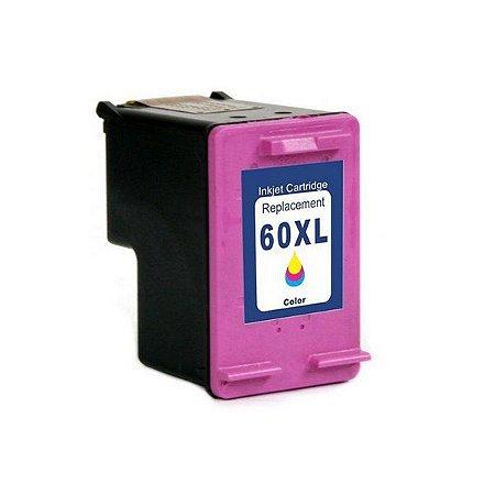 CARTUCHO DE TINTA COMPATIVEL HP 60XL COLORIDO 18ML GARANTIA: 90 DIAS