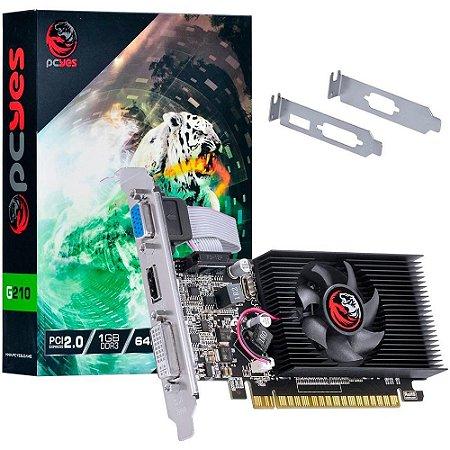 PLACA DE VIDEO DDR3 1GB/064 BITS PCYES NVIDIA GEFORCE G 210 GARANTIA: 6 MESES TIBURON