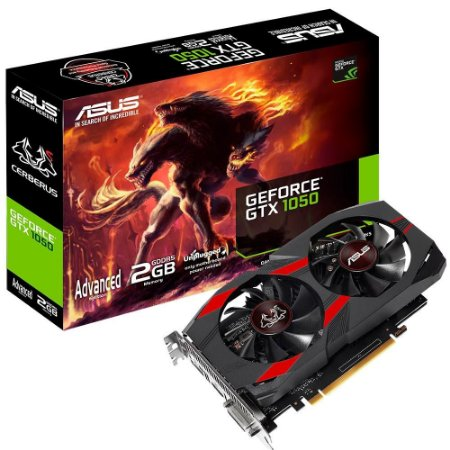 PLACA DE VIDEO DDR5 2GB/128 BITS ASUS NVIDIA GEFORCE GTX 1050 OC CERBERUS GARANTIA: 6 MESES TIBURON