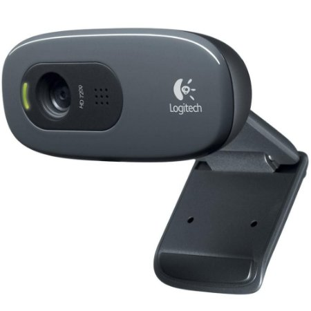 WebCam Logitech C270 HD com 3 MP para Chamadas e Gravações em Vídeo Widescreen 720p