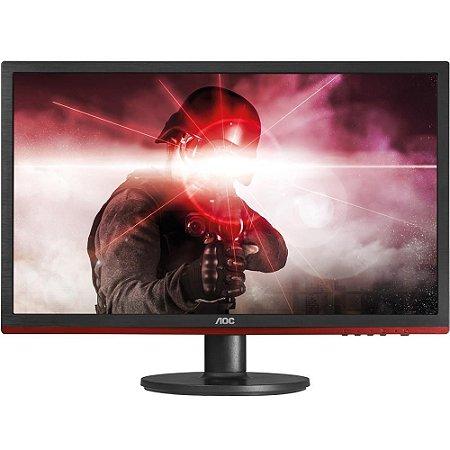 Monitor Gamer Led 24 Aoc G2460Vq6 Wide, Preto/Vermelho