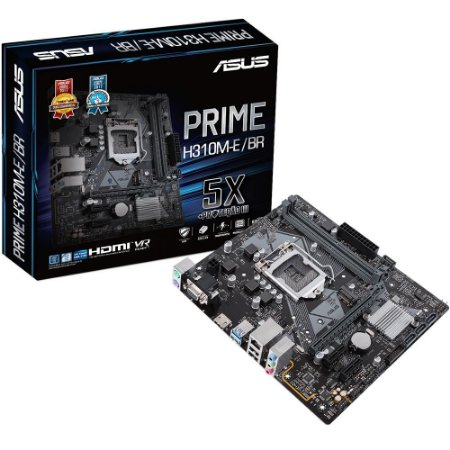 Placa Mae 1151 8ª Geração Asus Prime H310M-E/BR DDR4, mATX, Intel, M.2