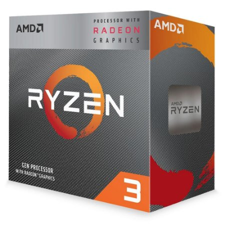 Processador Am4 Amd Ryzen 3 3200G, Cache 4MB, 3.6GHz, 4GHz Max Turbo, Com Vídeo Integrado