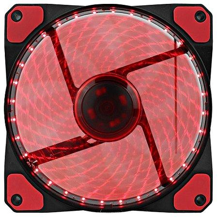 Cooler Fan Gamemax Gf12R 120X120X25Mm 32 Leds Vermelho