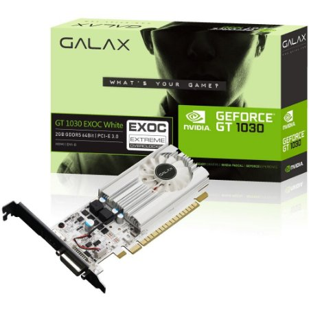 Placa De Video Ddr5 2Gb/064 Bits Galax Geforce Gt 1030 Exoc Hdmi/Dvi Pcie 3.0 30Nph4Hvq5Ew