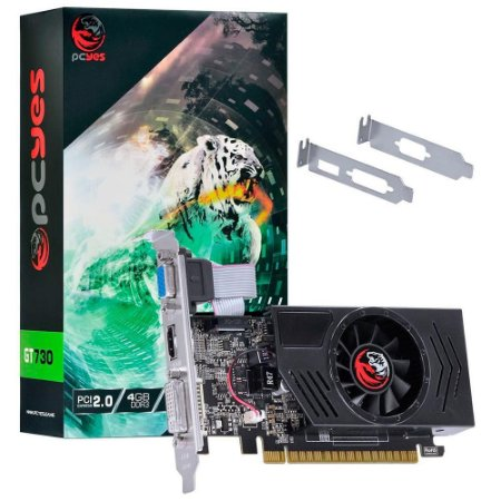 Placa De Video Ddr3 4Gb/128 Bits Nvidia Pcyes Geforce Gt 730 Pa730Gt12804D3
