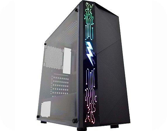 Computador Gamer Tiburon Intel 9100f, Memoria 16Gb, Ssd 240Gb, Placa Mae 9ª Ger, Gab. Cg-11A8, Fonte 500W, Vga Gt1030