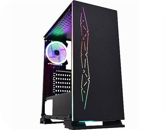 Computador Gamer Tiburon Intel 9100f, Memoria 8Gb, Ssd 240Gb, Placa Mae 9ª Ger, Gab. CG-01B8, Fonte 500W, Vga Gt1030
