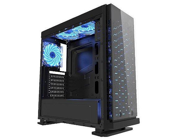 Computador Gamer Tiburon Intel 9100f, Memoria 8Gb, Ssd 240Gb, Placa Mae 9ª Ger, Gab. CG-7ev3, Fonte 500W, Vga 1050Ti