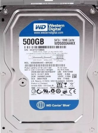 Hd Desktop 500 Gb Western Digital Wd5000Aakx Sata3 7200 Rpm