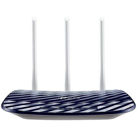 Roteador Tp-Link Archer C20 Ac750 Wireless Dual Band 2.4/5Ghz, 3 Antenas Fixas