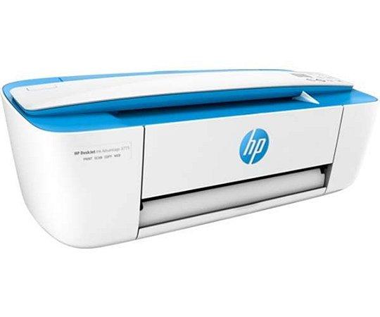 Impressora Multifuncional Hp 3775 Deskjet Color Ink Advantage Wifi J9V87A Azul