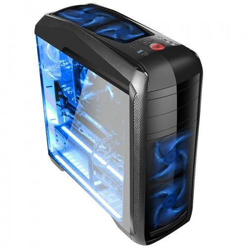 Gabinete Gamer Bluecase Bg-024, Sem Fonte, Sem Fan, Usb 3.0, Preto