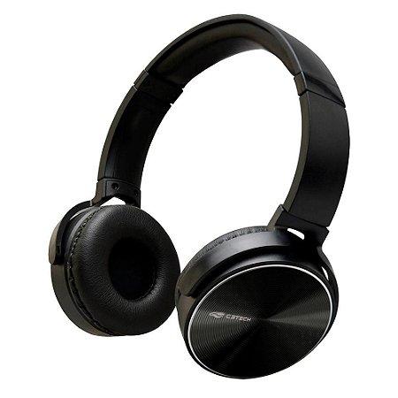 Headset C3Tech Ph-110Bk, Dobrável, Preto, Com Microfone, Pino P3