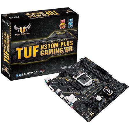 Placa Mãe 1151 8ª, 9ª Geração Asus Tuf H310M-Plus Gaming/Br, Ddr4 32Gb, M2/Nvme, Hdmi, Vga