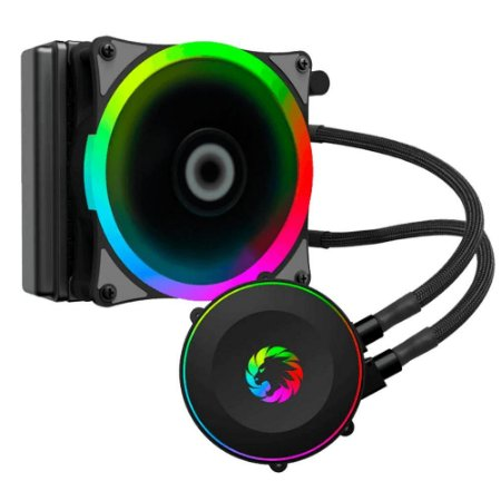 Watercooler Gabinete Gamemax Iceberg 120 Rainbow Liquid Cooler 1 Fan 120Mm Rgb