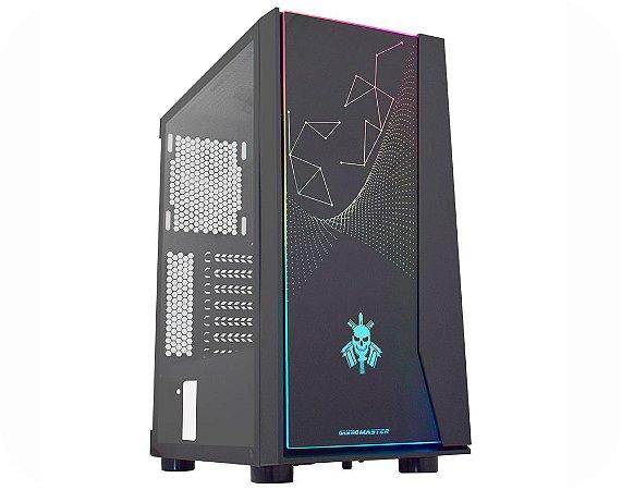 Gabinete Gamer Kmex Cg-20Rx Bope Painel Rgb Rainbow S/Fan S/Fonte