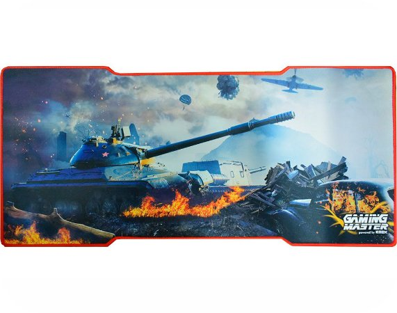Mousepad Gamer Kmex Fx-X8135 War Tank Grande 80X35 Cm Borda Costurada