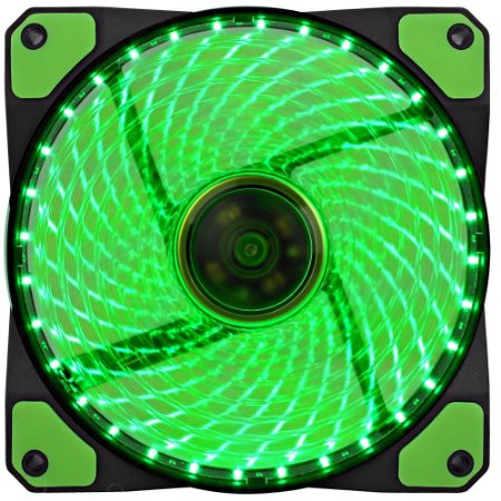 Cooler Fan Verde Gamemax Gf12G 12x12x2.5 Cm 32 Leds