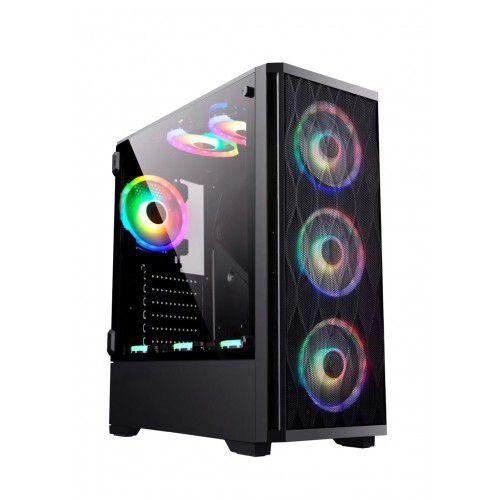 Gabinete Gamer Bluecase Bg-025, Sem Fonte, Sem Fan, Usb 3.0, Preto