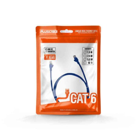 Cabo Rede Cat.6 02.5 Mts Pluscable Pc-Eth6U25Bl Patch Cord
