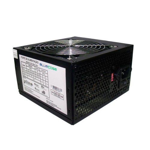 Fonte Atx 500 W Bluecase Blu500-K ATX , Com Cabo, Com Caixa
