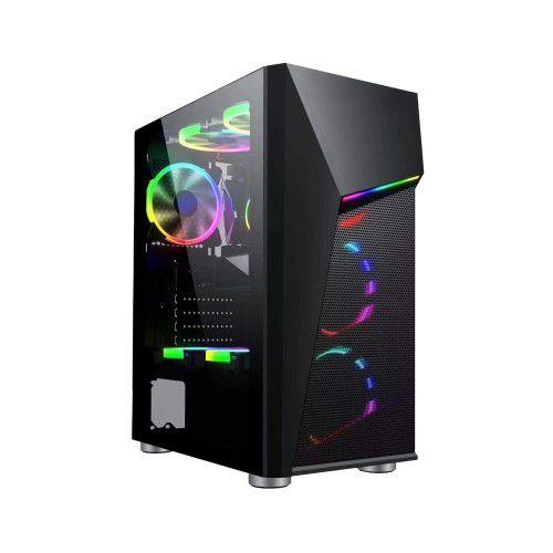 Computador Gamer Tiburon Intel 9100f, Memoria 8Gb, Ssd 480Gb, Placa Mae 9ª Ger, Gab. Bg-020B, Fonte 650W, Vga 1650