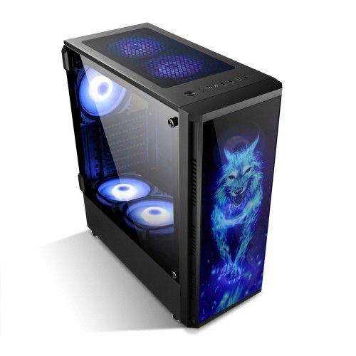 Computador Gamer Tiburon Intel 9400f, Memoria 8Gb, Ssd 480Gb, Placa Mae 9ª Ger, Gab. Bg-026, Fonte 650W, Vga 1650