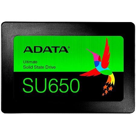 """Ssd Sata3 120 Gb Adata Su650 2.5"""", Lê: 520 Mb/S, Grava: 450 Mb/S, Asu650Ss-120Gt-R"""