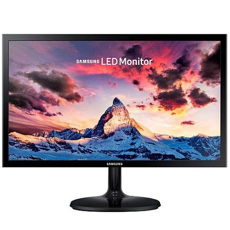 Monitor Led 21.5 Samsung Ls22F350Fhlmzd, 5Ms, 60Hz, Full Hd, Hdmi, Vga, Ultra Fino, Preto