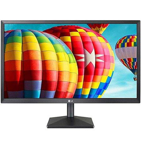 Monitor Led 21.5 Lg 22Mk400H, 5Ms, 60Hz, Widescreen, Tn, Full Hd, Hdmi, Vga, Preto